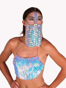 Sequin Chain Mail Veil in 5 Colors