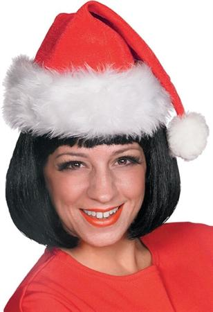 Santa Red Velour Hat
