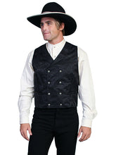 Load image into Gallery viewer, Double-Breasted Silk Vest In Black or Grey
