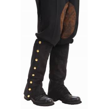 Boot Spats Suede with Buttons