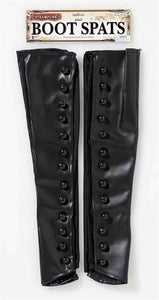 Boot Spats Vinyl Black w-Buttons