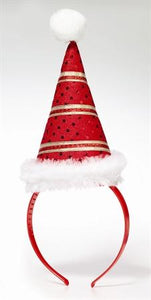 Santa-Mini Hat On Headband