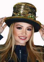 Load image into Gallery viewer, Festival Sequined Top Hat with Goggles in 3 Colors