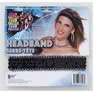 Sequin Headband in Silver or Black