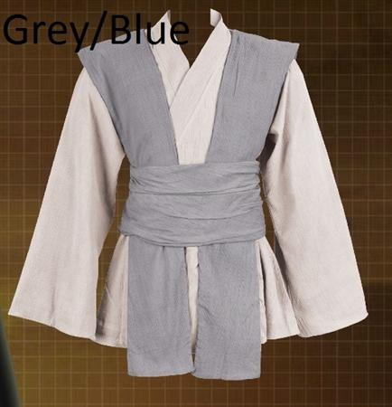 Jedi Tunic w-Cloth Belt Grey-Blue