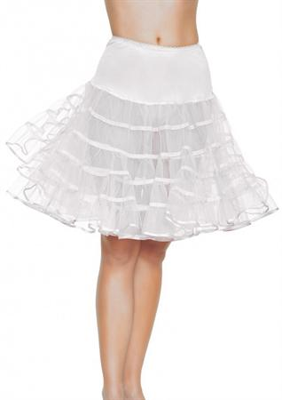 Petticoat Knee-Length White
