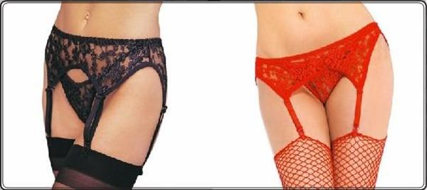 Lace Garter Belt w- Thong