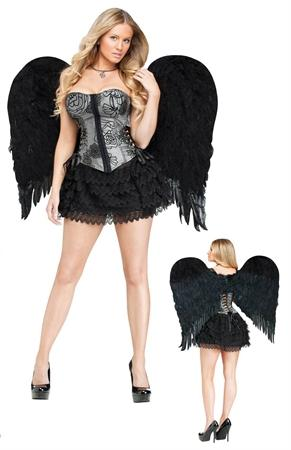 Wings Feather Angel Black 28