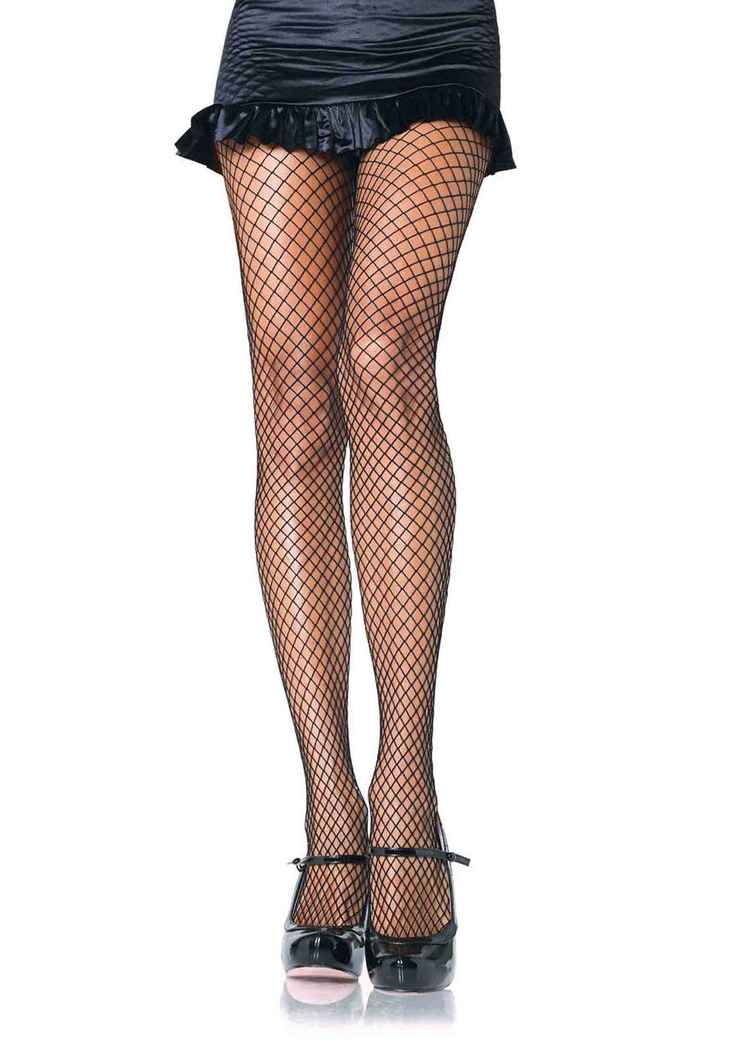 Black or Nude Spandex Industrial Net Tights