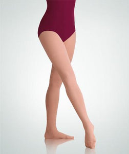 TotalSTRETCH Footed Plus Size Tights in 5 Shades