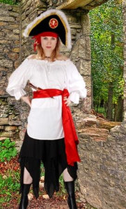 McGreedy Pirate Blouse White