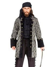 Load image into Gallery viewer, Pirate Coat Black with Gold Paisley