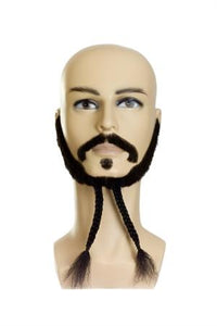 Beard and Moustache Set Pirate W-Beads