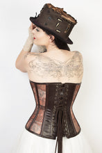 Load image into Gallery viewer, Corset Steampunk Mesh Print Overbust