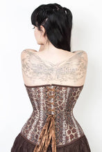Load image into Gallery viewer, Overbust Corset Snake Print