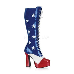 "Boot Electra 5"" Lace Up American Flag"