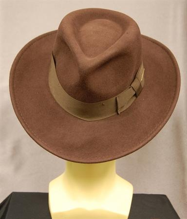 Indiana Jones Crushable Wool Felt Fedora