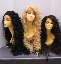 Load image into Gallery viewer, Delilah Long Curly Lace Front Wig