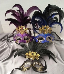 Venetian Cutout w/ Foil and Feathers