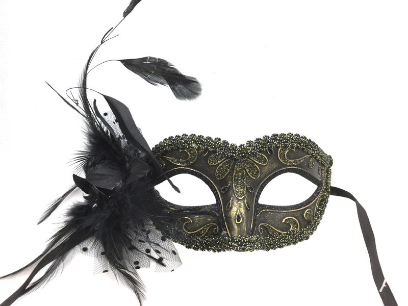 Mask Venetian Small w/ Feather
