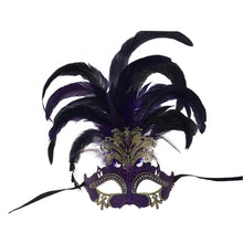 Load image into Gallery viewer, Venetian Cutout w/ Foil and Feathers