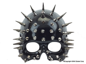 Mask Half Face Black w/ Spikes