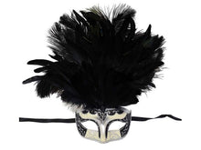 Load image into Gallery viewer, Mask w/ Feathers In 3 Colors