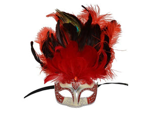 Mask w/ Feathers In 3 Colors