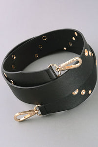 Triple Punch Hole Fuax Leather Belt Strap