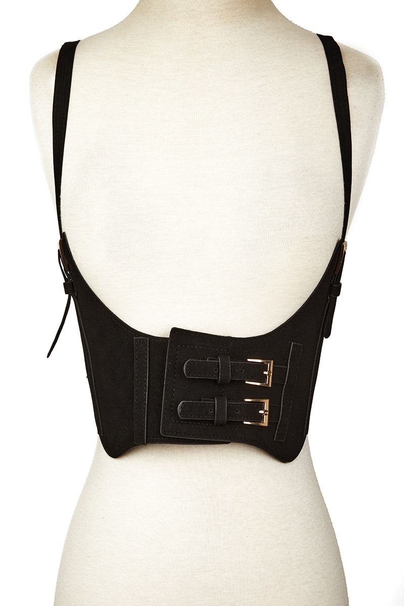 Black Velvet Belt w/ Suspenders