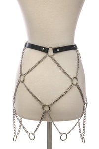 Diamond Ring Chain Belt
