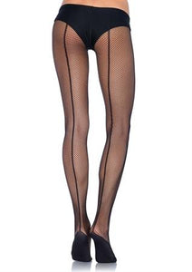 Tights Pro Fishnet w-Backseam Black