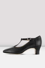 "Load image into Gallery viewer, Character T-Strap Shoe Black 2"" Heel"
