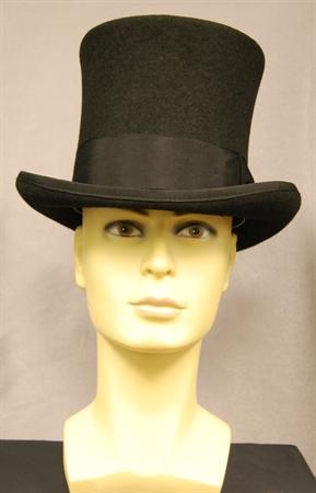 Wool Felt Bell Crown Top Hat BLK L
