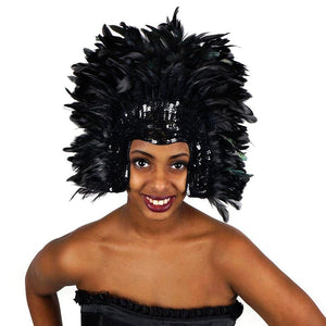 Headdress Sequin and Feather