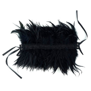 Black Feather Choker in Black or Red