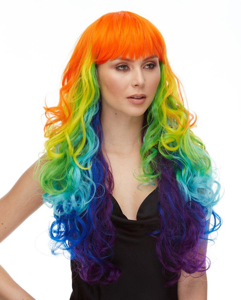Wig Chroma Rainbow w/Bangs