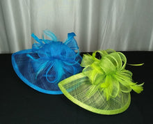 Load image into Gallery viewer, Fascinator Headband Netted Bow w/Feathers