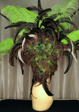 Load image into Gallery viewer, Peacock Showgirl Headpiece