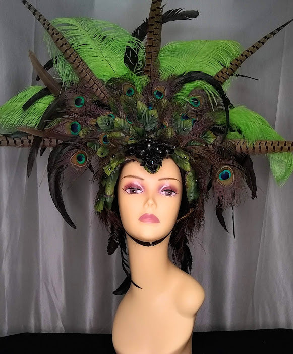Peacock Showgirl Headpiece