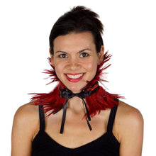 Load image into Gallery viewer, Black Feather Choker in Black or Red