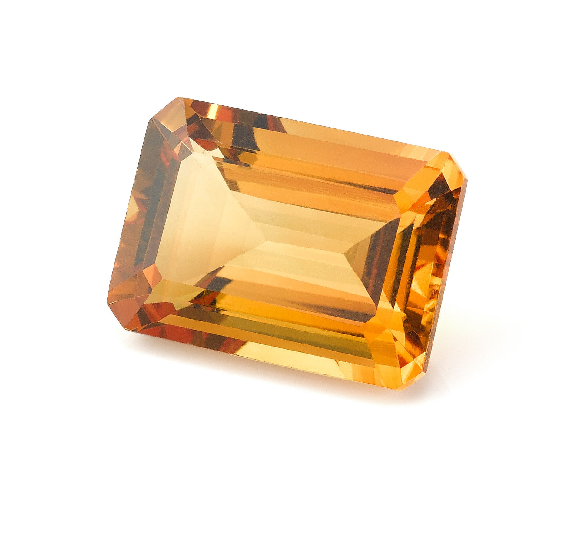 Citrine Rectangular Emerald Cut