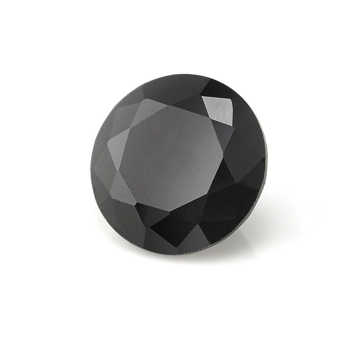 Round Brilliant Cut Black Garnet