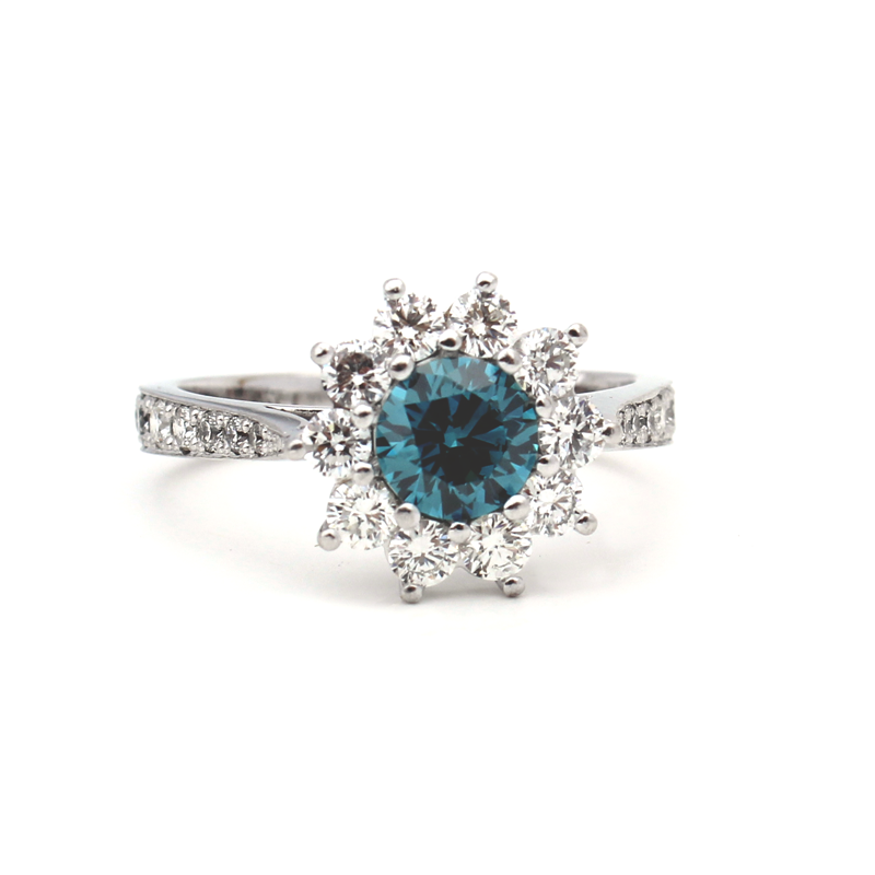 Samantha Engagement Ring - Magnificent Blue Diamond
