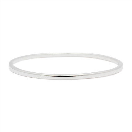 Classic Thin Silver Bangle