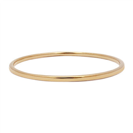 simple classic thin gold bangle