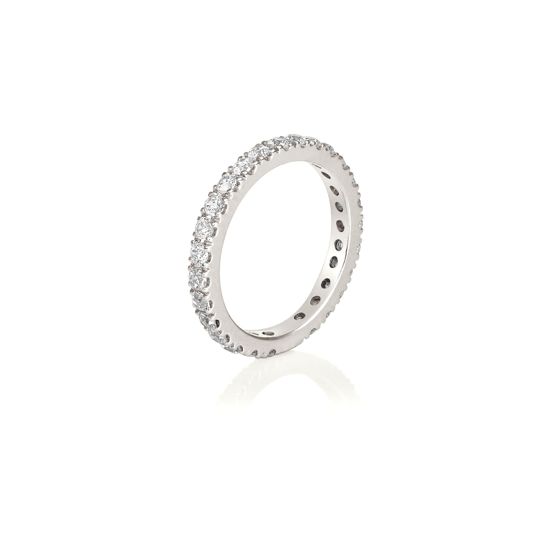 Diamond Eternity Ring - French V Claw Scalloped Setting