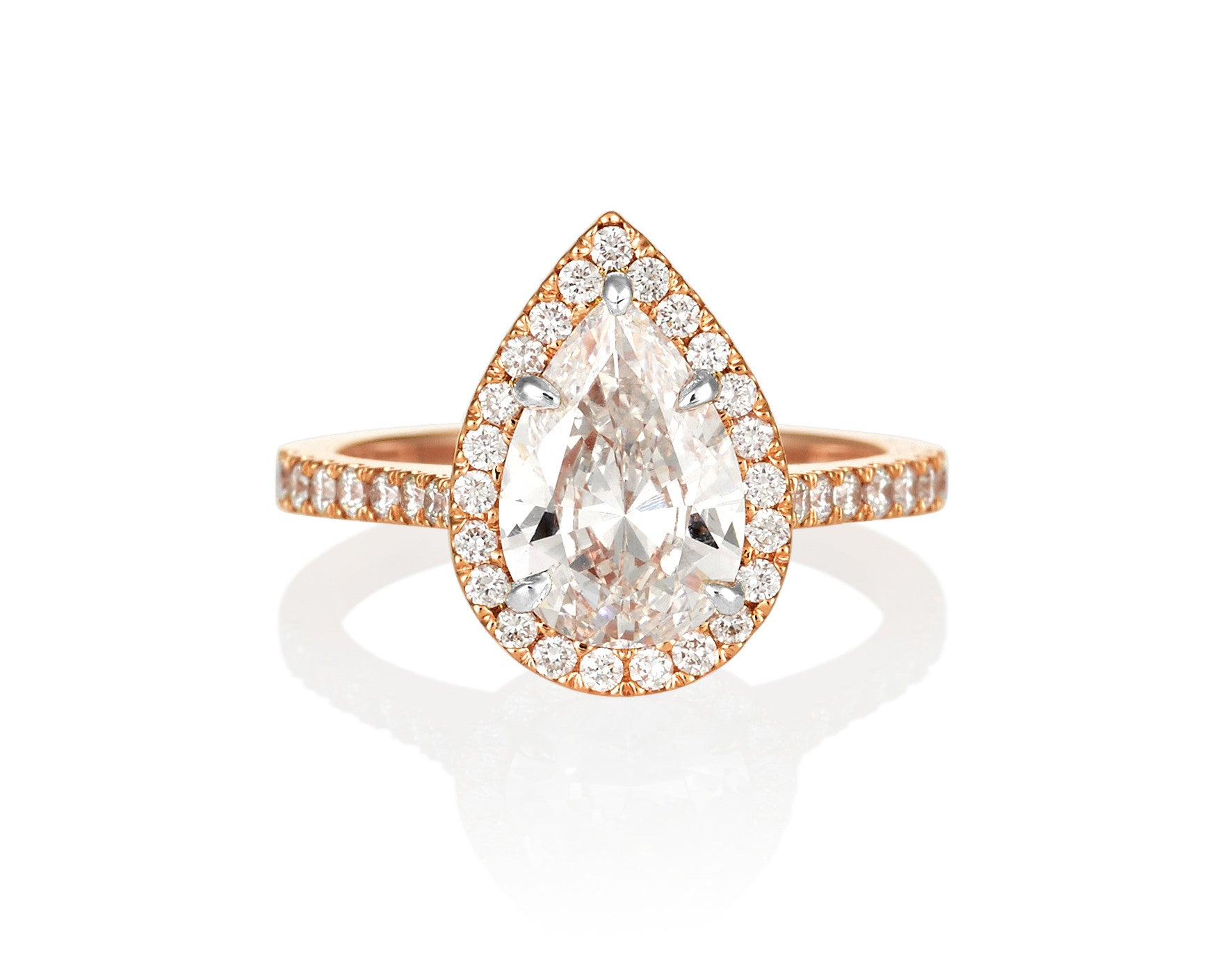 Pear Shape Engagement Ring