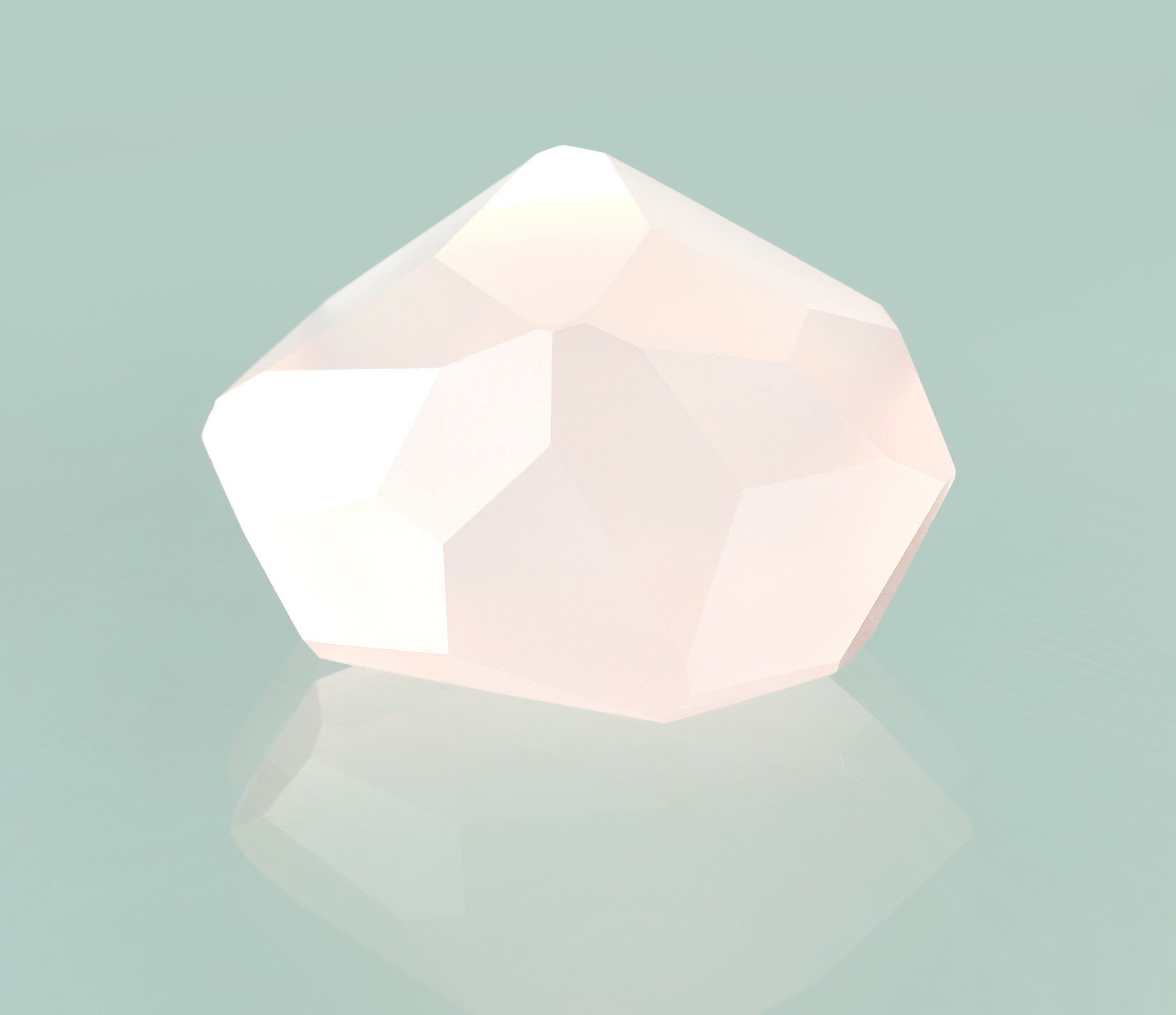 Rose Quartz Multifaceted Gemstone