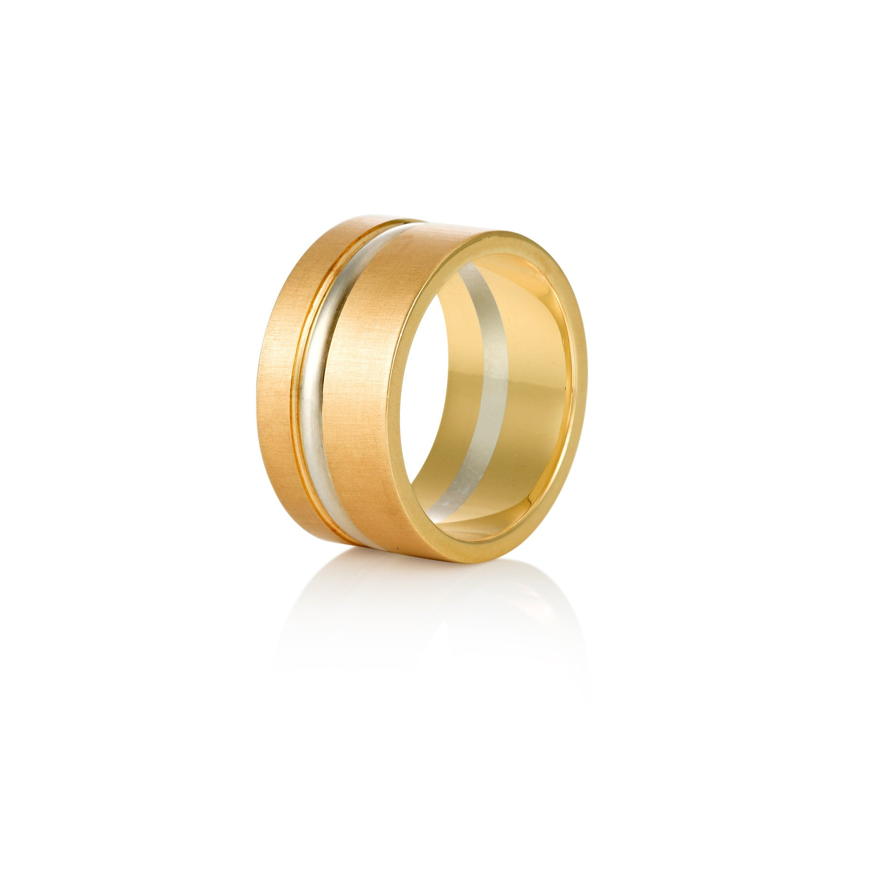 Satin Silk Ring Yellow and White Gold